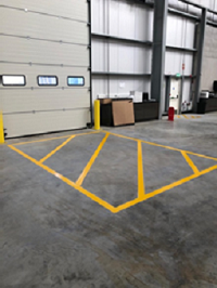 Warehouse floor safety marking