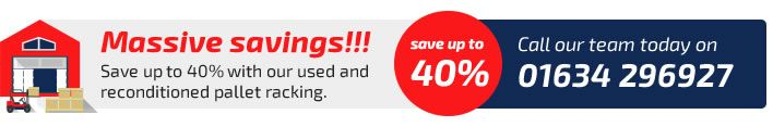 Save up to 40% on used racking